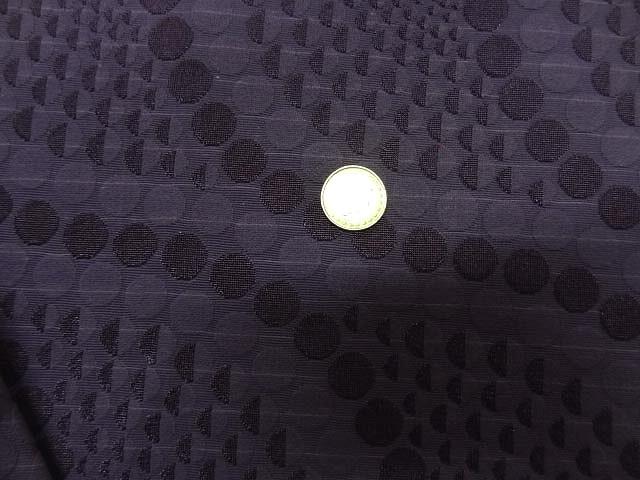 Lycra faconne art deco teinte violet zinzolin 2