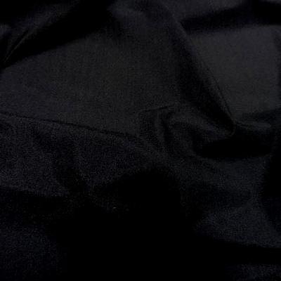 Lycra fin satine noir 1 1
