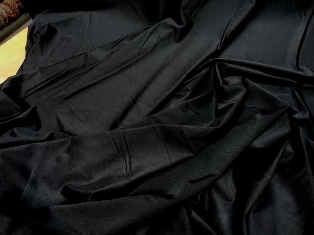 Lycra fin satine noir 1