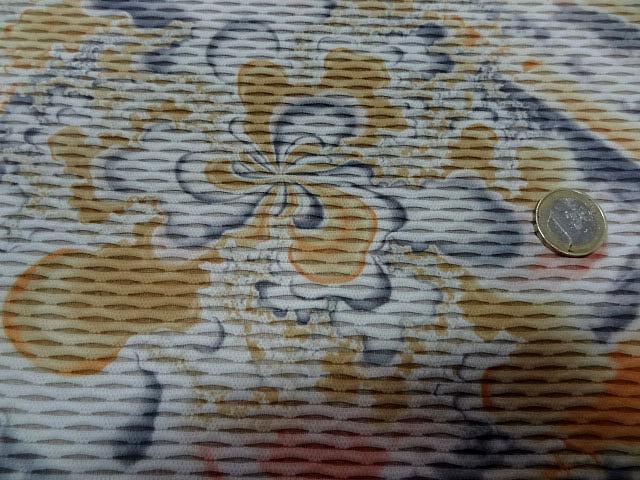 Lycra grege fleurs taches d encre 3