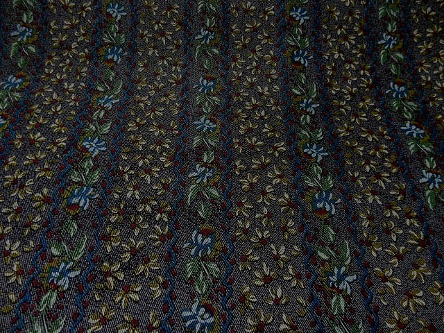 Lycra imprime faux tissage diagonal fleuri 2