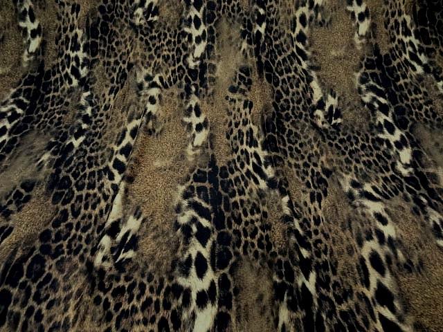 Lycra imprime peau de jaguar flou 2
