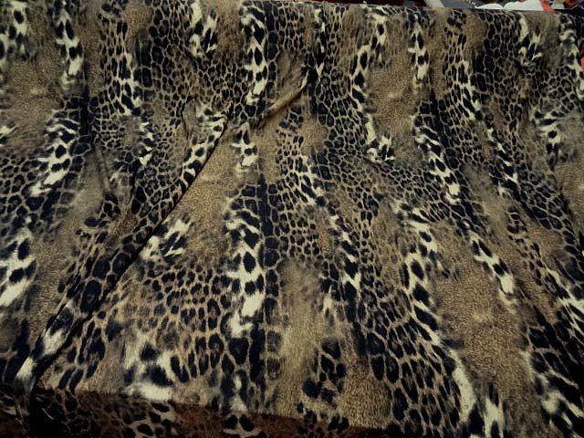 Lycra imprime peau de jaguar flou 3
