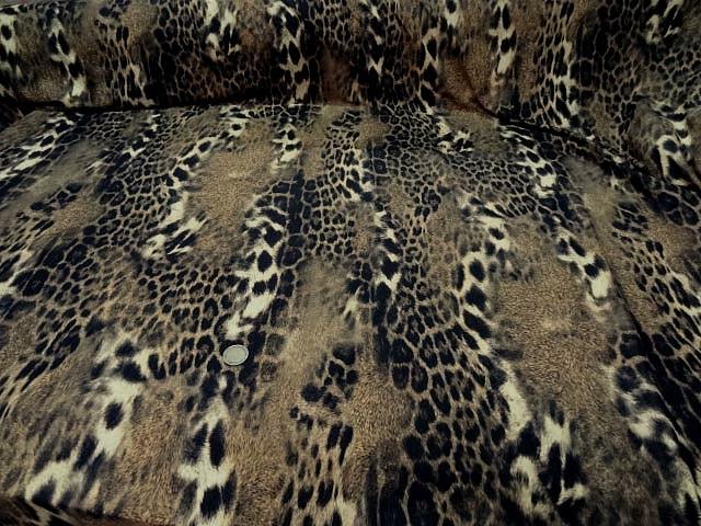 Lycra imprime peau de jaguar flou 4