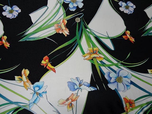 Lycra iris sur fond noir et blanc 1