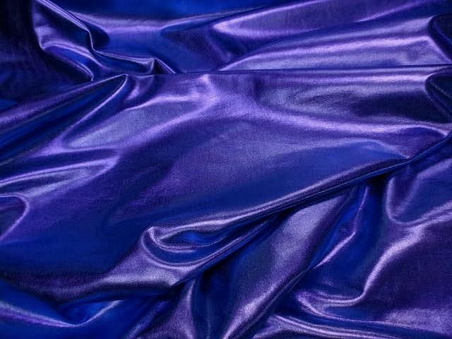 Lycra lame bleuet 1