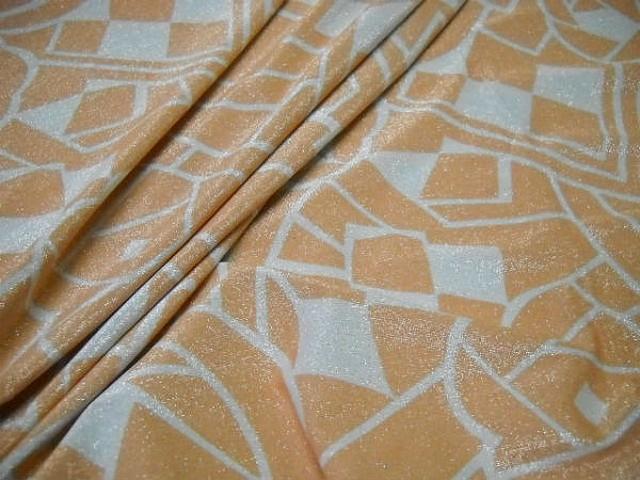 Lycra lurex prismes blanc et abricot 2