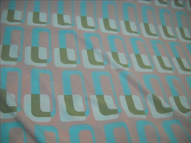 Lycra motif annees 60 graphique pastel 1