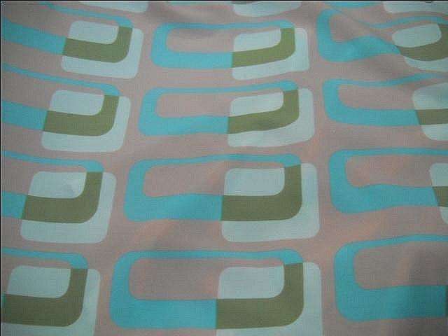 Lycra motif annees 60 graphique pastel 3