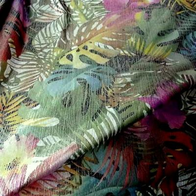 Lycra motif jungle lurex reversible 2