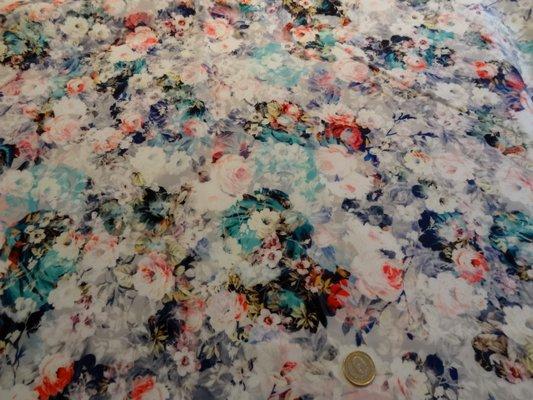 Lycra mousse rosiers bleus 01