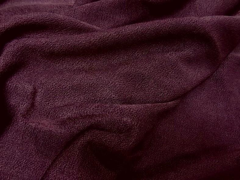 Lycra prune tisse crepe 3 1