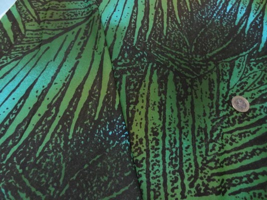 Lycra maillot de bain marron feuillage vert-turquoise 4