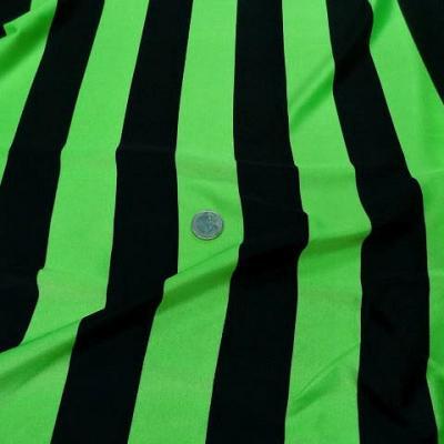 Lycra rayures bagnard larges vert pomme et noir 3