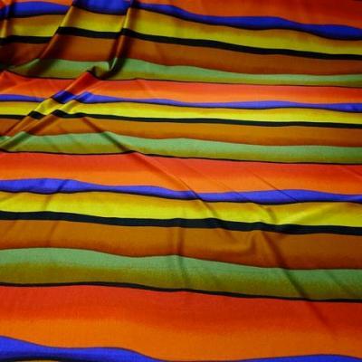 Lycra rayures dunes teintes crepusculaires 1