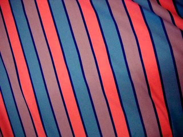 Lycra rayures et bandes tricolore 1