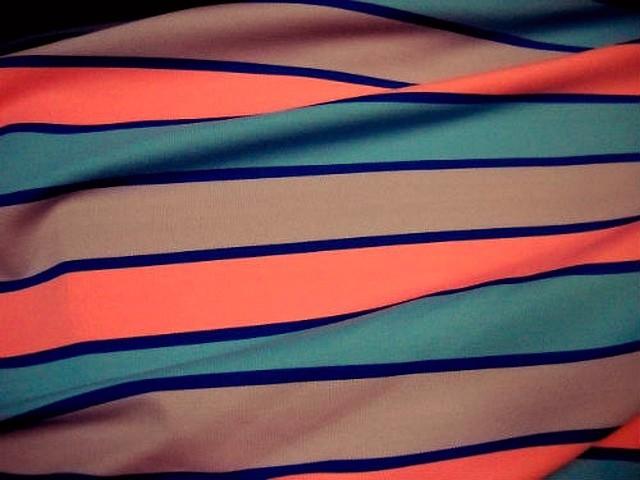 Lycra rayures et bandes tricolore 3