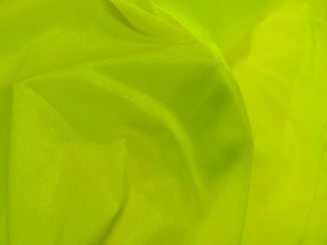 Lycra satine jaune citron 1