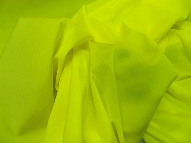 Lycra satine jaune citron 2