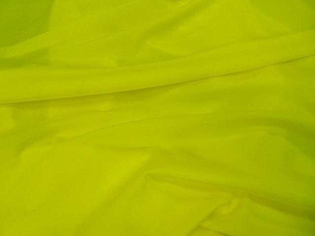 Lycra satine jaune citron 3