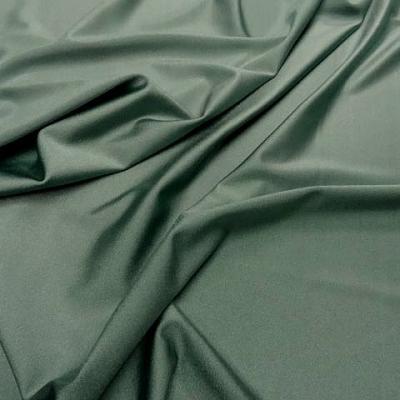 Lycra satine vert amande 1