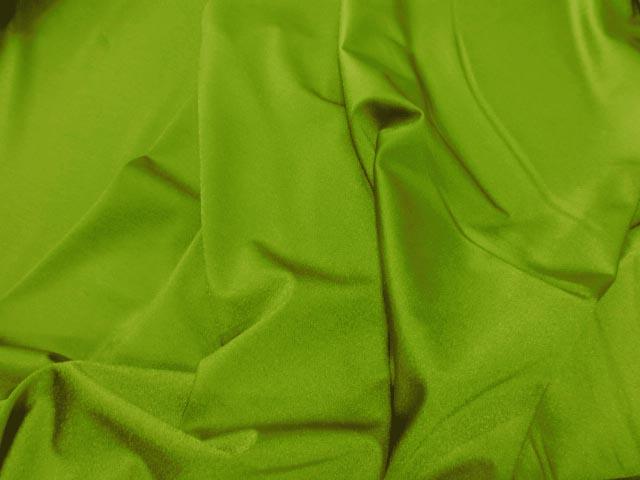 Lycra satine vert anis