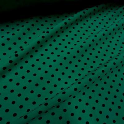 Lycra vert emeraude pois noir moyen 3
