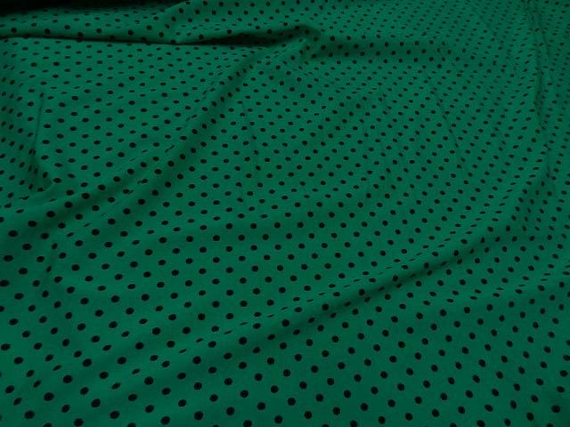 Lycra vert emeraude pois noir moyen 4