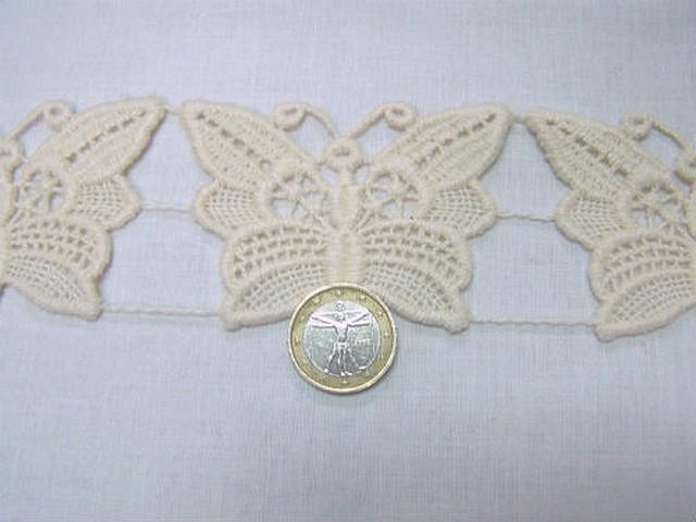 Macrame ecru motif papillon 2