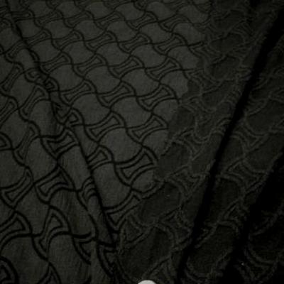 bi stretch taupe et cachou motif carreaux chantournes 2