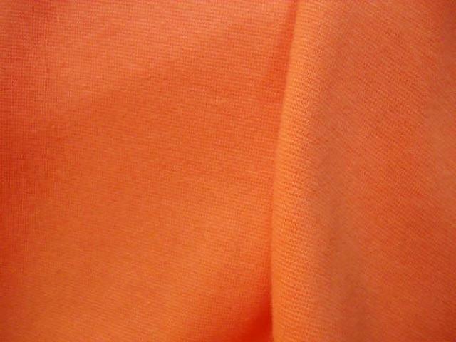 Maille coton jersey lycra orange 1