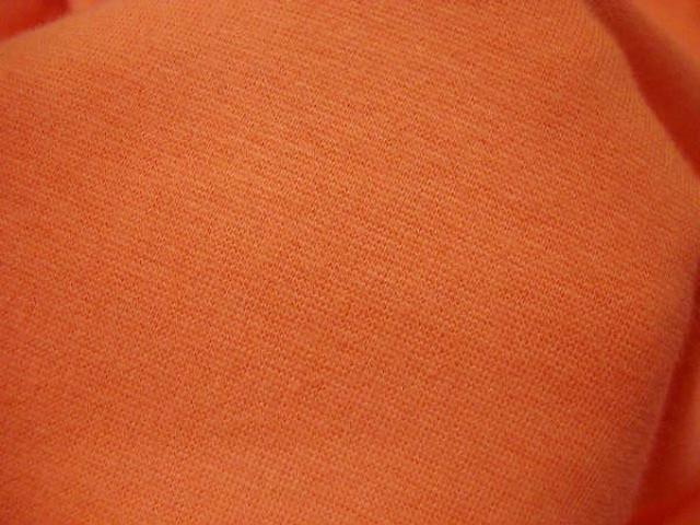 Maille coton jersey lycra orange 3
