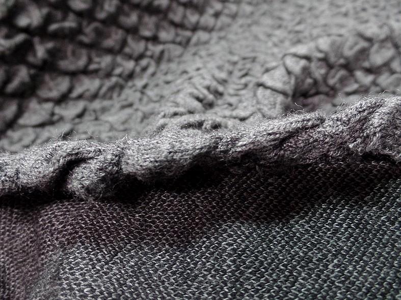Maille de laine bouillonee gris moyen 1