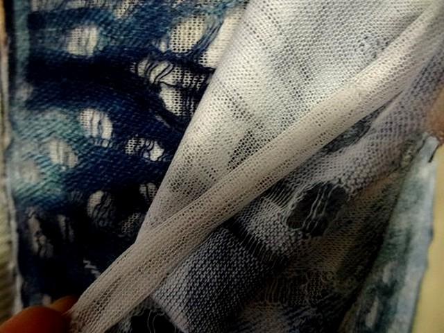 Maille double tissus motifs la marine