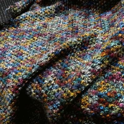 Maille epaisse bouclee multicolore 6