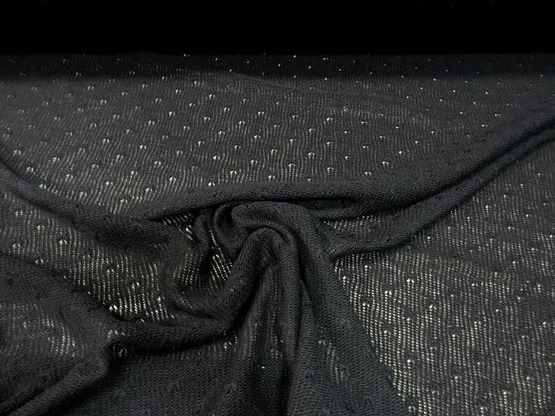 Maille lainage noir a picots 2
