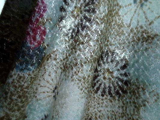 Maille laine et soie bleu et kaki 04