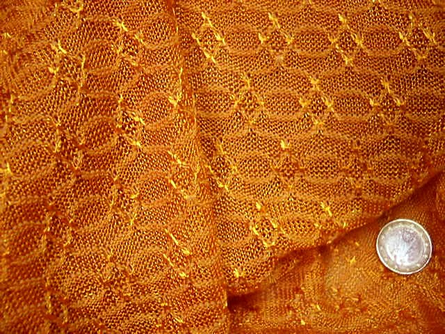 Maille motif maillon teinte jus d orange 2
