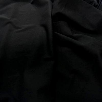Maille mousse lycra noire 1