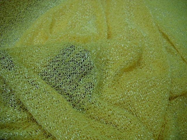 Maille mousseuse jaune paille 2