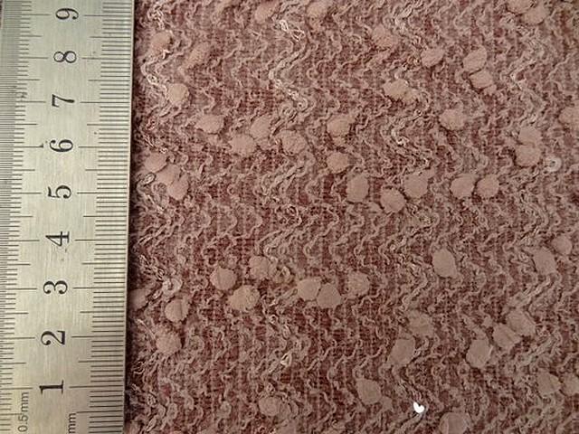 Maille rose poudre a picots et sequins 02