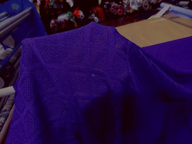 Maille tricotee motif carreaux indigo 3