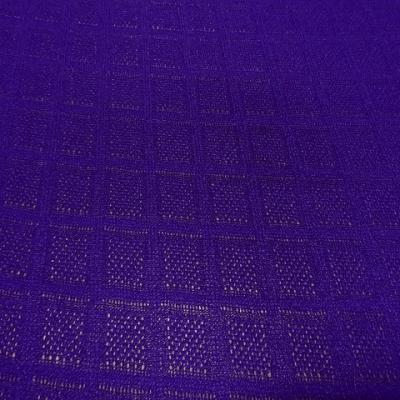 Maille tricotee motif carreaux indigo 4 1