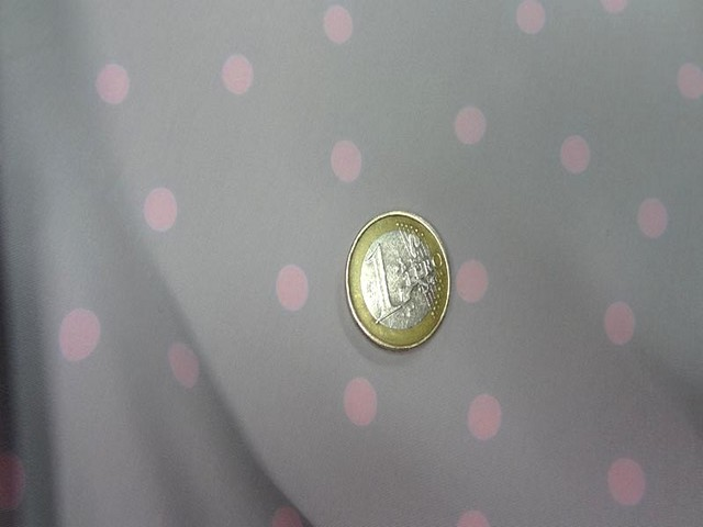 Microfibre gris perle pois rose clair 3