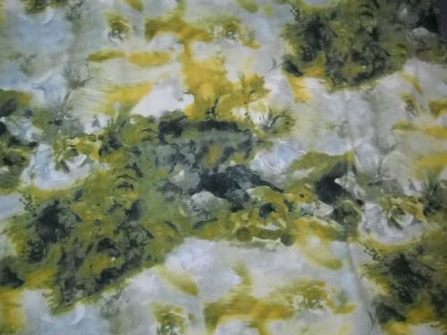 Microfibre motif abstrait kaki noir banane 1