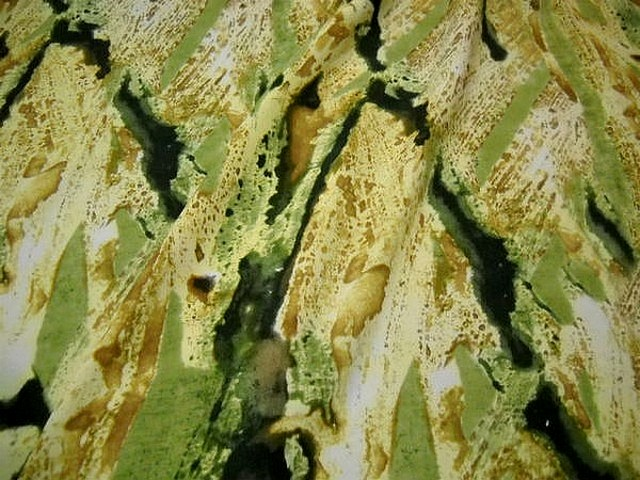 Microfibre noir safran tilleul effet peinture talochee 1
