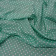 Microfibre vert d eau a pois blanc 8