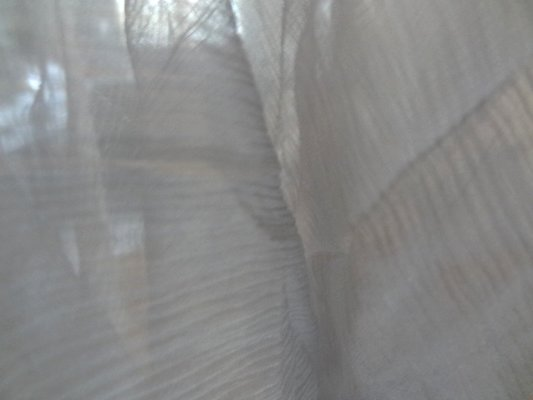 Mousseline chiffon nuage gris 03