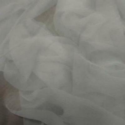 Mousseline de soie blanc casse 3