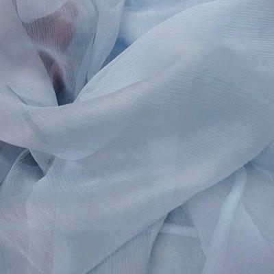 Mousseline de soie bleu layette 0 2